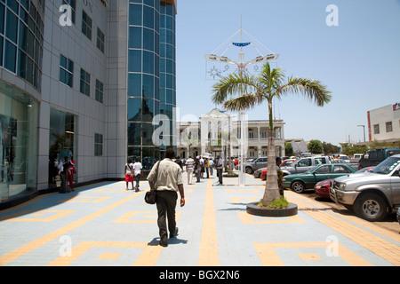 Outside the Maputo Shopping center, Mozambique - Stock Photo