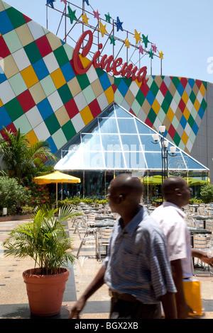 Cinema inside the Maputo Shopping center, Mozambique - Stock Photo