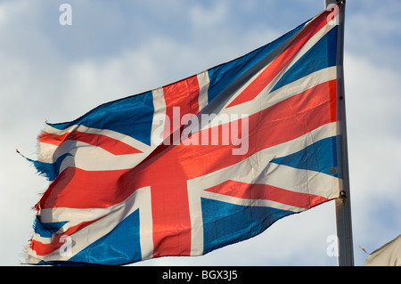 The national flag of the United Kingdom commonly knows as the Union Jack or Union Flag. - Stock Photo