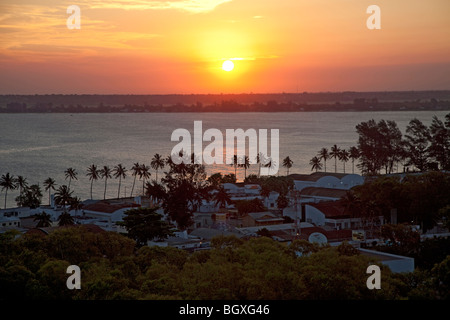 Sunset over Maputo Bay, Mozambique, East Africa - Stock Photo