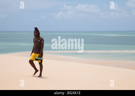 View from the dune on Bazaruto island, Mozambique, East Africa - Stock Photo