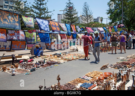 Artisan market in Maputo, Mozambique, East Africa - Stock Photo