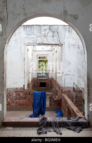 Abandoned building in Maputo, Mozambique, East Africa - Stock Photo