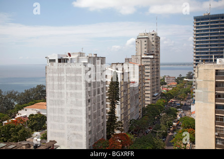View of  Maputo, Mozambique, East Africa - Stock Photo
