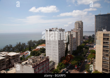 View of the center of Maputo, Mozambique, East Africa - Stock Photo