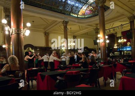 Tango,  in historic Confiteria Ideal Tango dance hall, Buenos Aires, Argentina - Stock Photo