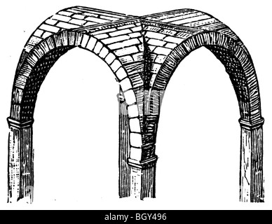 Cross vault, Roman - Stock Photo