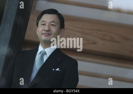 Emperor Naruhito of Japan, son of Emperor Emeritus Akihito. (Photo taken when he was Crown Prince) - Stock Photo