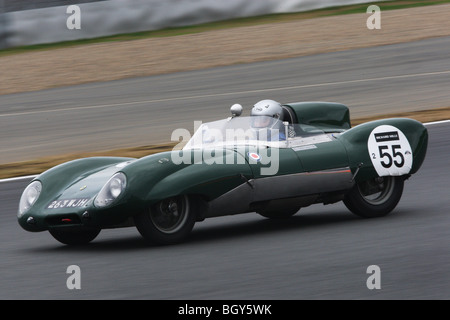 1956 Lotus XI. Le Mans Classic car race, Fuji Speedway, Japan, Sunday, November 11th, 2007. - Stock Photo