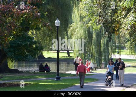 Boston Common, Boston, Massachusetts, USA - Stock Photo