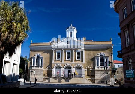 The Old Exchange Building, Bay and Broad Streets, Charleston, South Carolina, United States of America. - Stock Photo