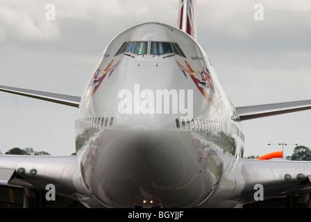 Virgin Atlantic Boeing 747-400 jumbo jet named Barbarella. - Stock Photo