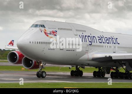 Virgin Atlantic Boeing 747-400 jumbo jet named Barbarella . - Stock Photo