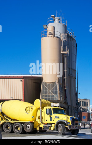 Truck at factory - Stock Photo