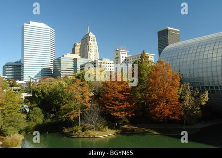... Oklahoma City, OK, Oklahoma, Downtown, Myriad Botanical Gardens   Stock  Photo