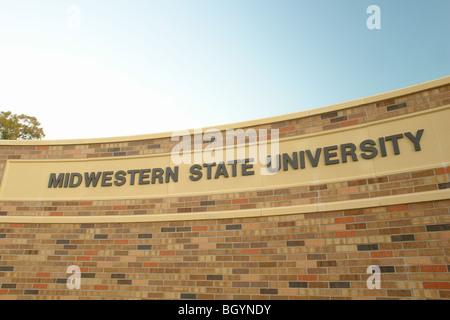 Wichita Falls, TX, Texas, Midwestern State University, entrance sign