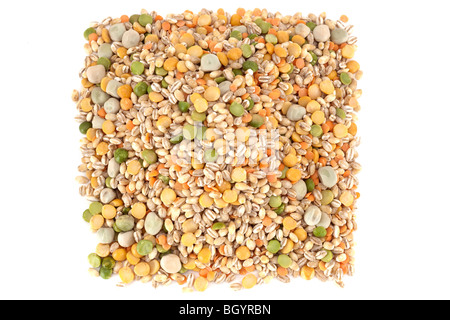 Mixed dried ingredients for soup and broth mix - Stock Photo