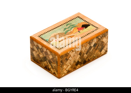 chinese wooden puzzle box - Stock Photo