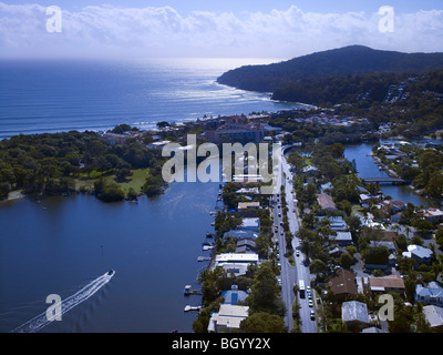 Aerial view of Noosa Heads, Queensland Australia - Stock Photo
