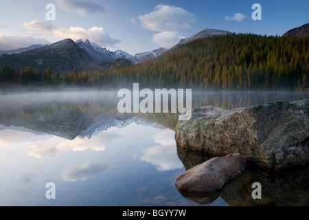 Bear Lake, Rocky Mountain National Park, Colorado. - Stock Photo