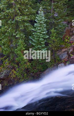 Alberta Falls, Rocky Mountain National Park, Colorado. - Stock Photo