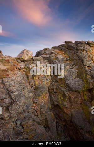 Rock Cut along Trail Ridge Road, Rocky Mountain National Park, Colorado. - Stock Photo