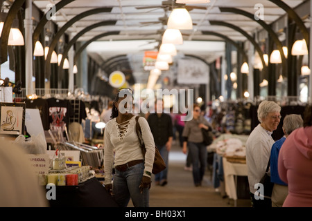 Woman in French Market in French Quarter, New Orleans, Louisiana - Stock Photo