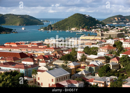 The town of Charlotte Amalie, St. Thomas, USVI - Stock Photo