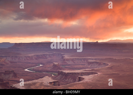 Green River Overlook, Island in the Sky District, Canyonlands National Park, near Moab, Utah. - Stock Photo