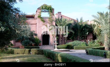 Morrocan house on the outskirts of Marrakech - Stock Photo