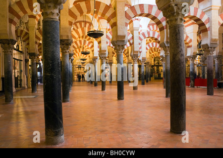 Cordoba, Spain. Interior of Great Mosque La Mezquita. - Stock Photo