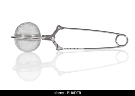 Tea infuser isolated on a white background - Stock Photo