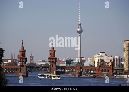 Berlin Spree Skyline - Stock Photo