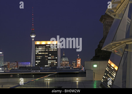 Berlin Reichstag Dach Roof Skyline - Stock Photo