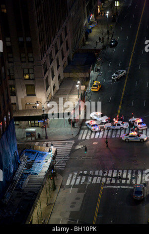 Police at Accident Scene, 34th St and Madison Ave, NYC - Stock Photo
