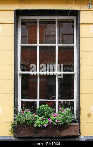 Typical Georgian window in Dublin, Eire. - Stock Photo