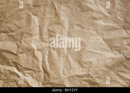 Great background made with a crumpled old paper - Stock Photo