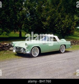 Vintage 1956 Ford Thunderbird car, Waterloo, Quebec, Ontario - Stock Photo
