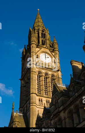 Town Hall tower Albert Square central Manchester England UK Europe - Stock Photo
