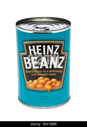 Tin of Heinz baked beans - Stock Photo