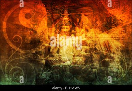 Secret Society Gang Religion as Art Background - Stock Photo