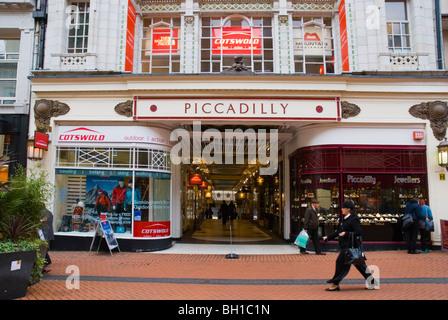Piccadilly shopping arcade exterior Birmingham England UK Europe - Stock Photo