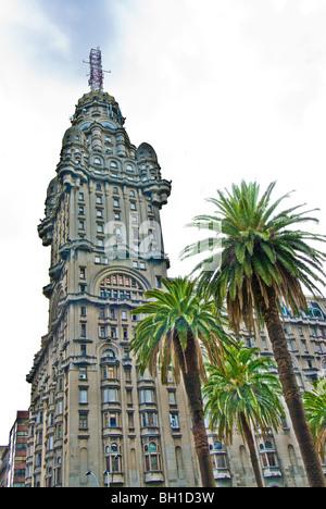 Palacio Salvo in Montevideo, Uruguay - Stock Photo