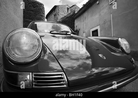 Porsche 911 T Classic 1960s Car Parked At Monte Carlo In Monaco An