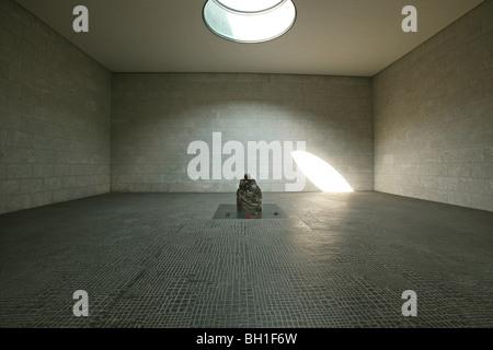 Sculpture in an empty room, Neue Wache, Berlin, Germany, Europe - Stock Photo