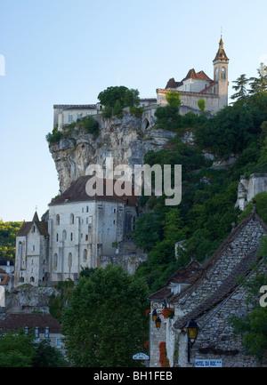 View of Rocamadour, The Way of St. James, Roads to Santiago, Chemins de Saint-Jacques, Via Podiensis, Dept. Lot, - Stock Photo
