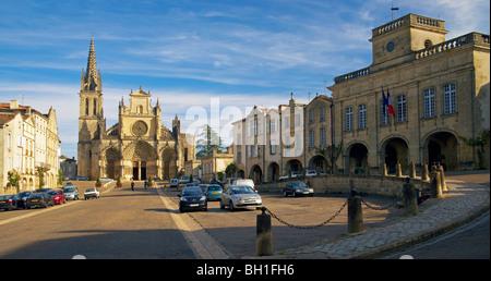 Bazas Cathedral, The Way of St. James, Chemins de Saint Jacques, Via Lemovicensis, Bazas, Dept. Gironde, Région - Stock Photo