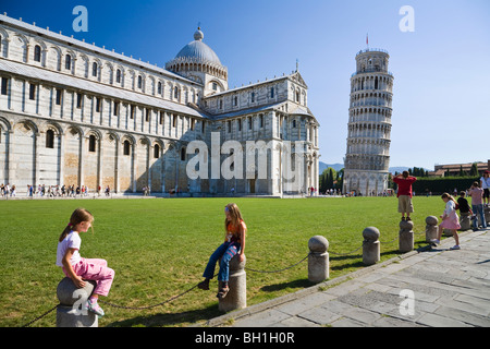 Cathedral and Leaning Tower, Pisa, Tuskany, Italy - Stock Photo