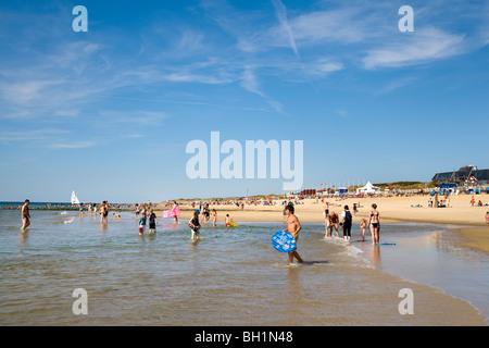 Beach, Westerland, Sylt Island, North Frisian Islands, Schleswig-Holstein, Germany - Stock Photo