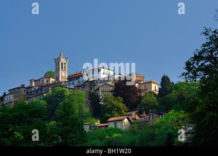 pilgrimage village Santa Maria del Monte, Santa Maria del Monte, Sacromonte di Varese, World Heritage Site, Lombardy, - Stock Photo
